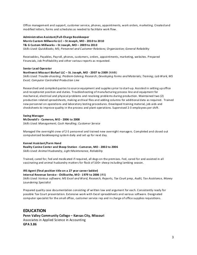 organization general reliability 3 - Assembly Line Resume Sample