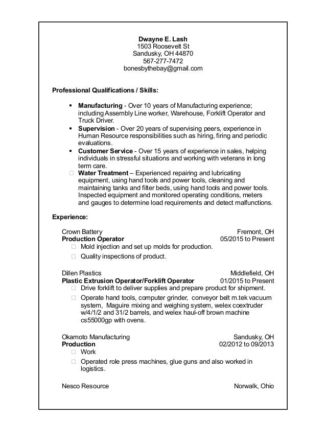 cdl resume