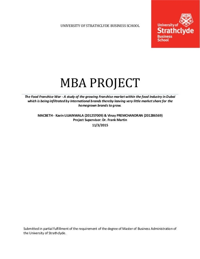 mba dissertation front page