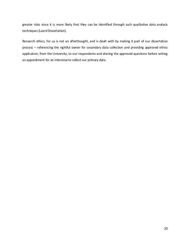 laerd dissertation ethics