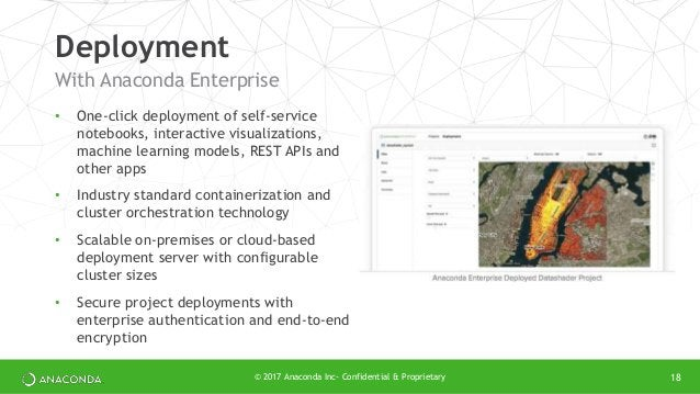 • One-click deployment of self-service notebooks, interactive visualizations, machine learning models, REST APIs and other...