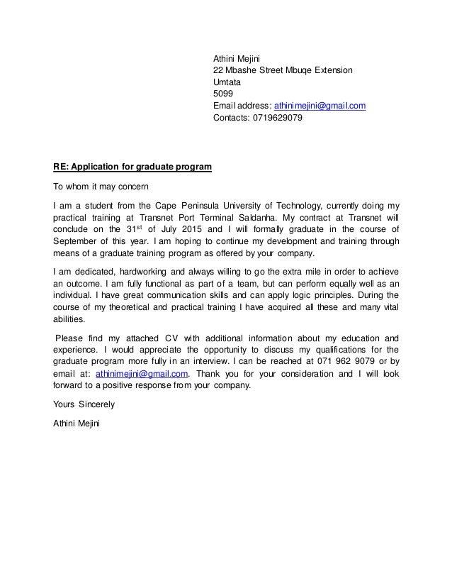 Cover letter athini mejini 22 mbashe street mbuqe extension umtata 5099 email address athinimejinigmail altavistaventures Gallery