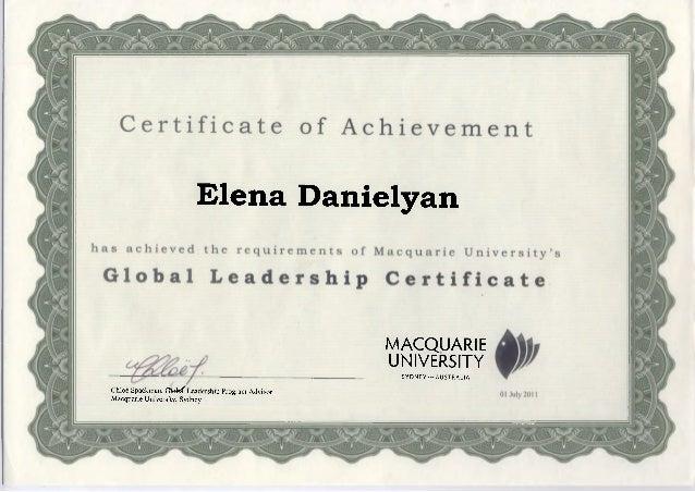 Global Leadership Certificate