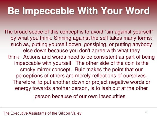 The Executive Assistants Of The Silicon Valley Four Agreements