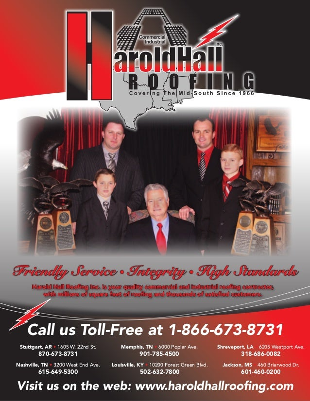 Harold Hall Roofing Inc. Is Your Quality Commercial And Industrial Roofing  Contractor, With Millions ...