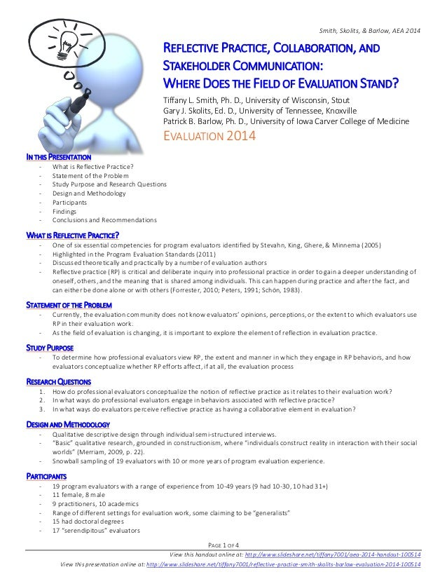 Smith, Skolits, & Barlow, AEA 2014  PAGE 1 OF 4  View this handout online at: http://www.slideshare.net/tiffany7001/aea-20...