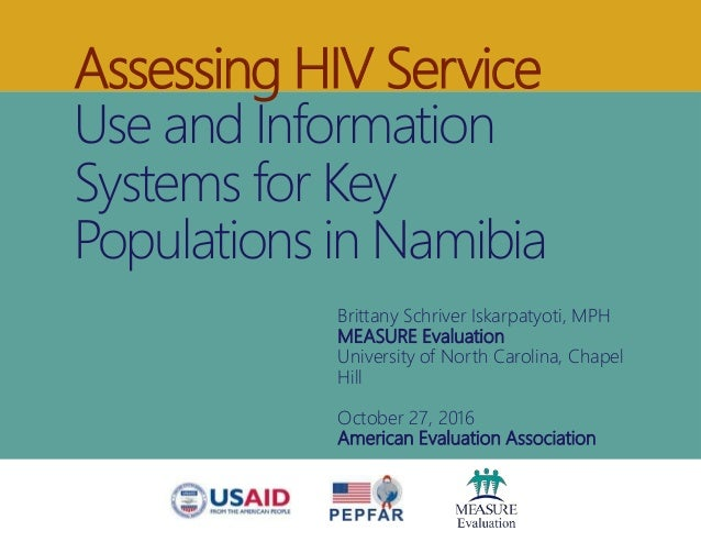 Assessing HIV Service Use and Information Systems for Key Populations in Namibia Brittany Schriver Iskarpatyoti, MPH MEASU...