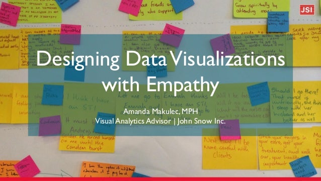 Designing DataVisualizations with Empathy Amanda Makulec, MPH Visual Analytics Advisor | John Snow Inc.