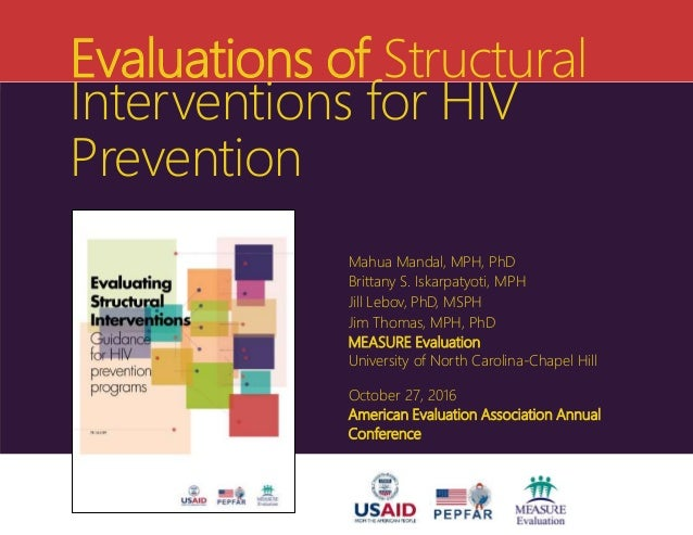 Evaluations of Structural Interventions for HIV Prevention Mahua Mandal, MPH, PhD Brittany S. Iskarpatyoti, MPH Jill Lebov...