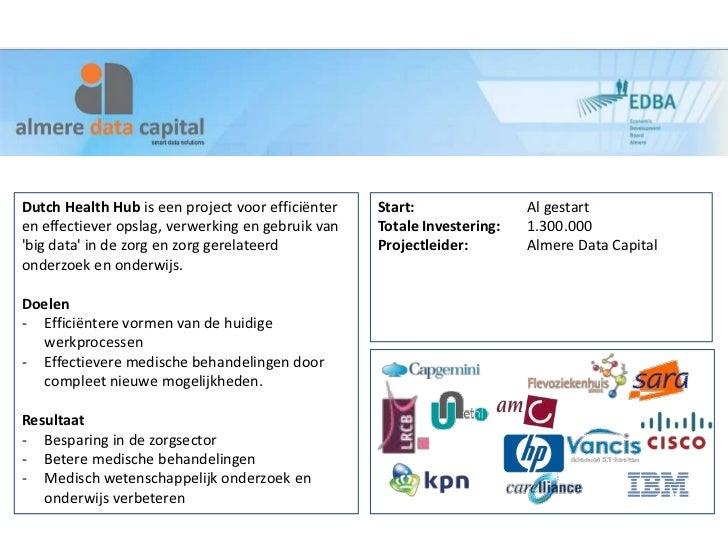 Dutch Health Hub is een project voor efficiënter   Start:                Al gestarten effectiever opslag, verwerking en ge...