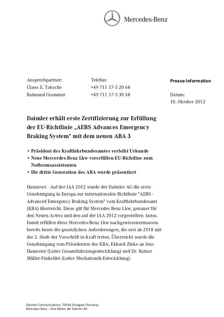Ansprechpartner:                         Telefon:                    Presse-InformationClaws E. Tohsche                   ...