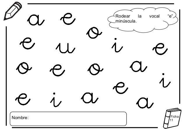 Aprestos De Vocales Para Imprimir Imagui Preescolar