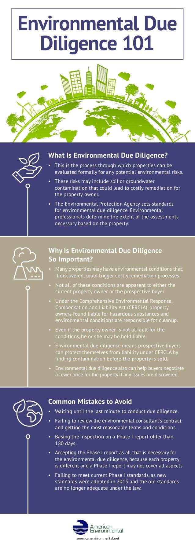 Environmental Due Dilligence