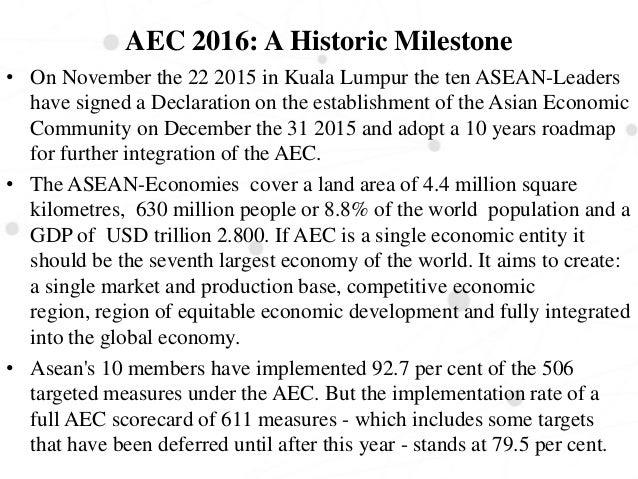 aec speech Speech by he mr s pushpanathan, deputy secretary-general for asean   initiatives towards establishment of the asean economic community (aec) by.
