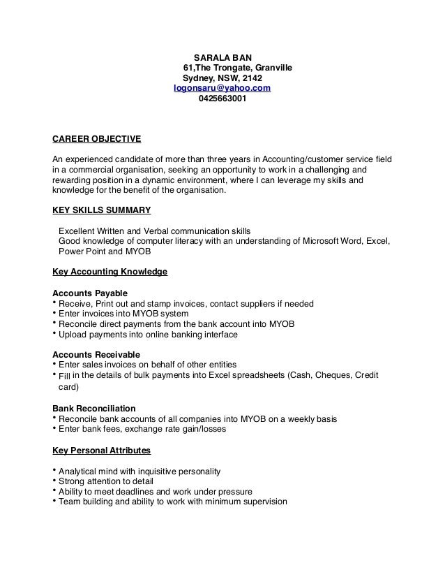 sarala accounting resume pdf