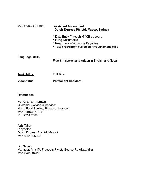 Beautiful Sydney Accounting Resume Pictures - Best Resume Examples ...
