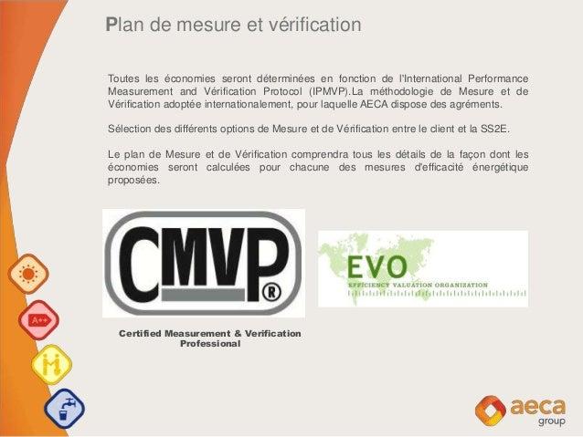 Plan de mesure et vérification Toutes les économies seront déterminées en fonction de l'International Performance Measurem...