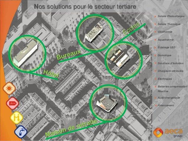 Solaire Photooltaïque Solaire Thermique Géothermie Aquathermie Éclairage LED Domotique Solutions d'Isolation Chargeurs véh...