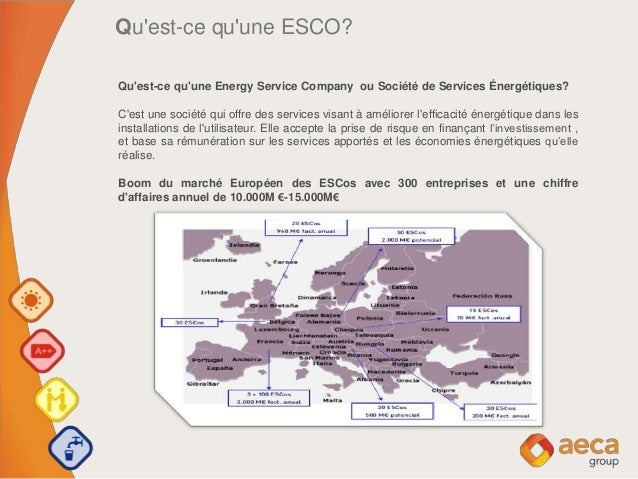 Qu'est-ce qu'une ESCO? Qu'est-ce qu'une Energy Service Company ou Société de Services Énergétiques? C'est une société qui ...