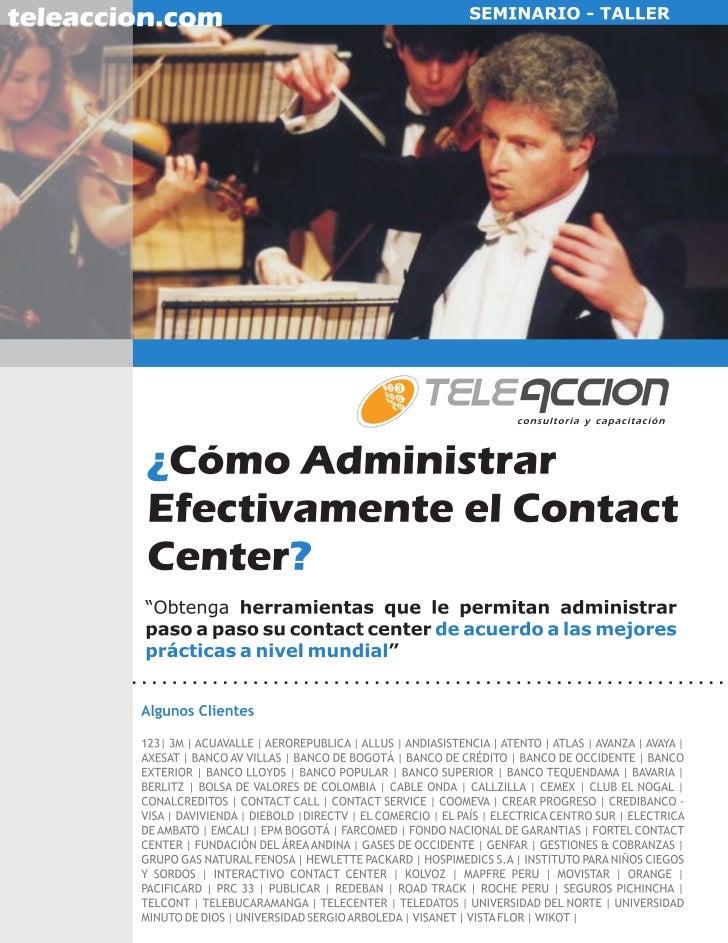 Administración Efectiva de Contact Center