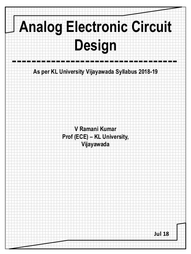 analog electronic circuit design (aecd) text bookElectronic Circuit Syllabus #5