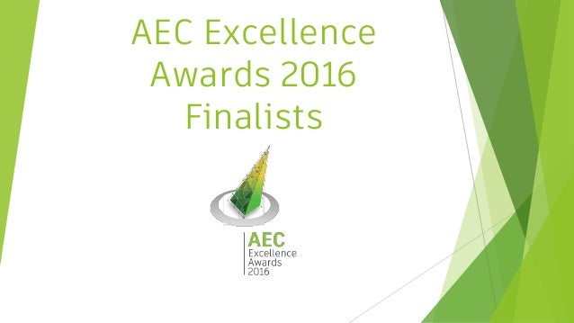 AEC Excellence Awards 2016 Finalists