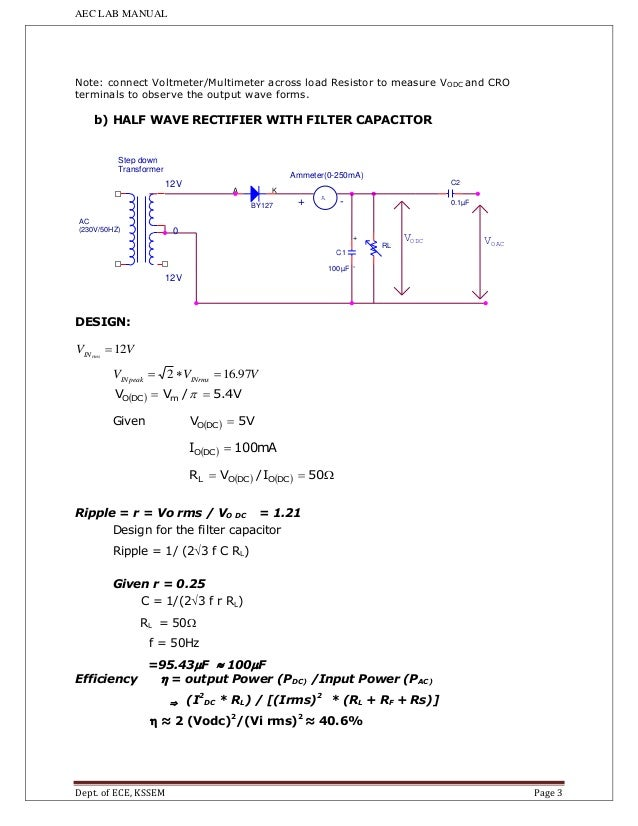 50hz Ripple Filter Circuit