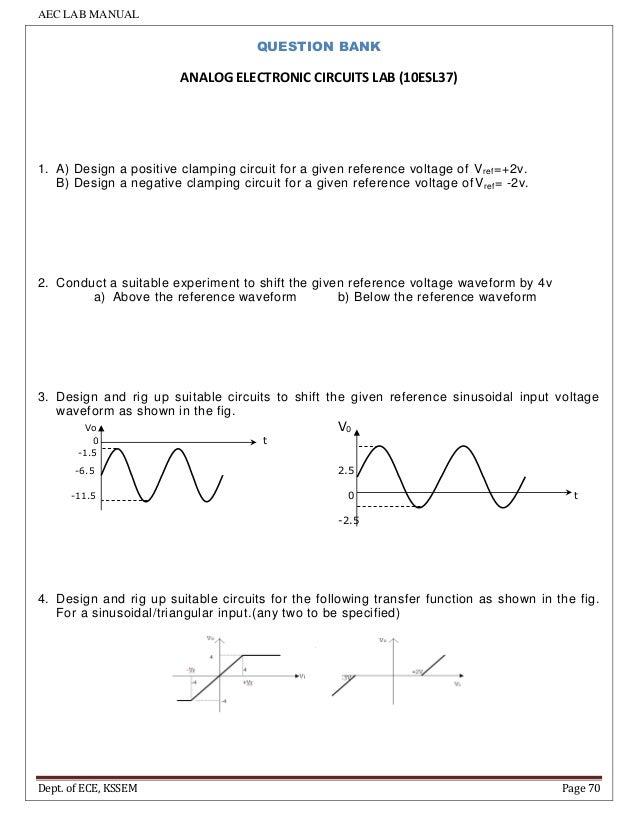 aec manual for iii sem ece students vtu rh slideshare net Electronics Lab Equipment D- Lab Electronics