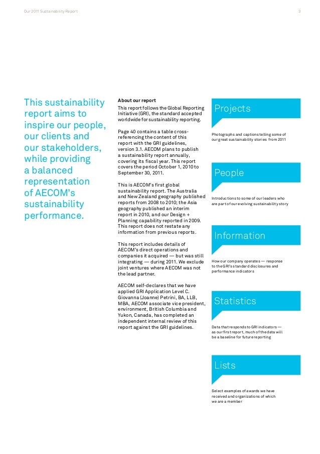 Aecom 2011 global sustainability report