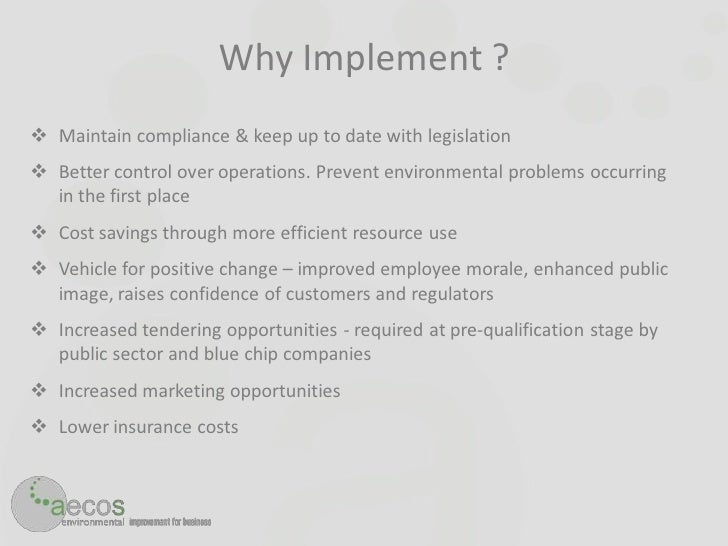 Aecos_Implementing ISO14001