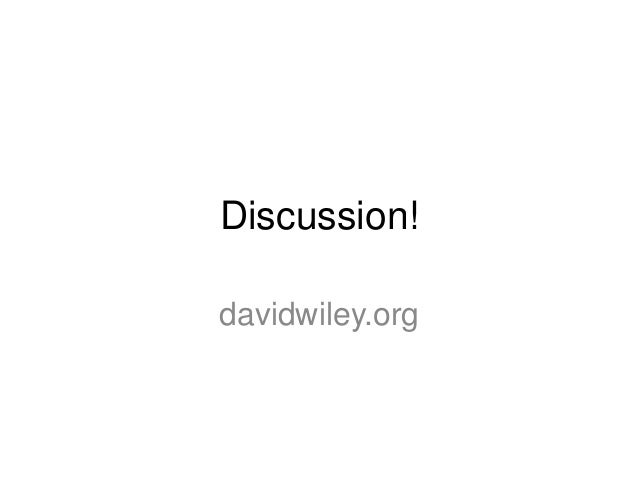 Why Open Education? Three Arguments