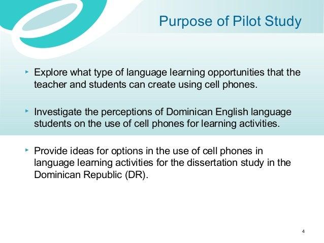 Pilot study research dissertation