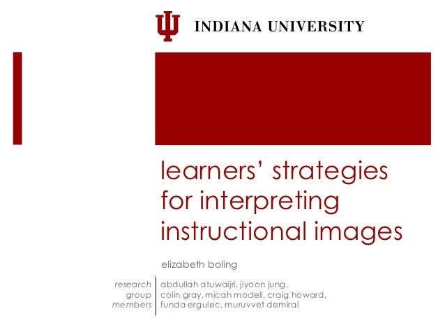 learners' strategies           for interpreting           instructional images           elizabeth bolingresearch   abdull...