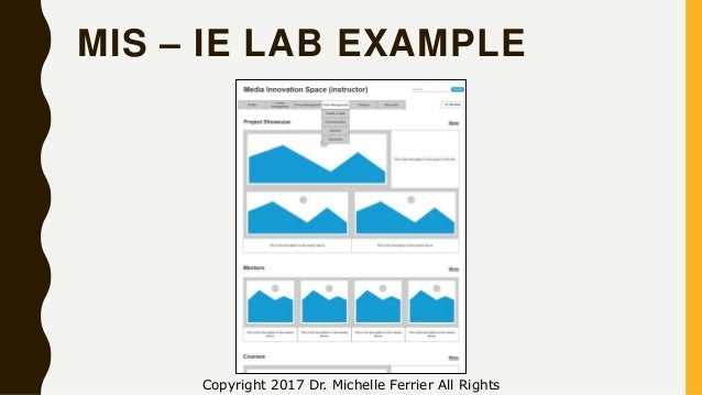 MIS – IE LAB EXAMPLE Copyright 2017 Dr. Michelle Ferrier All Rights