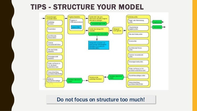 TIPS - STRUCTURE YOUR MODEL Do not focus on structure too much!