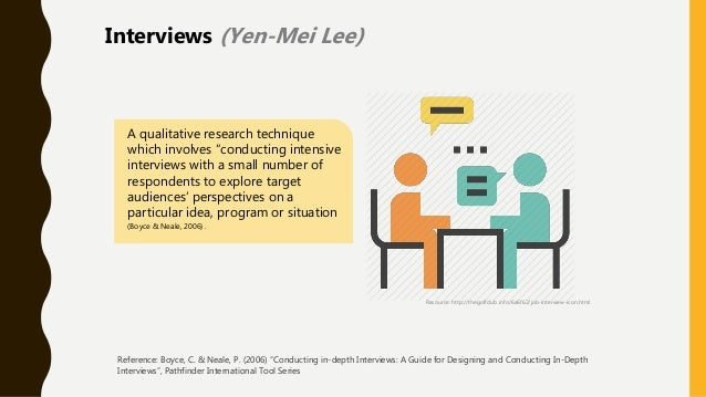 """A qualitative research technique which involves """"conducting intensive interviews with a small number of respondents to exp..."""