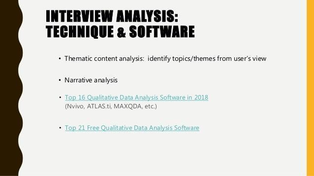 • Top 16 Qualitative Data Analysis Software in 2018 (Nvivo, ATLAS.ti, MAXQDA, etc.) • Top 21 Free Qualitative Data Analysi...