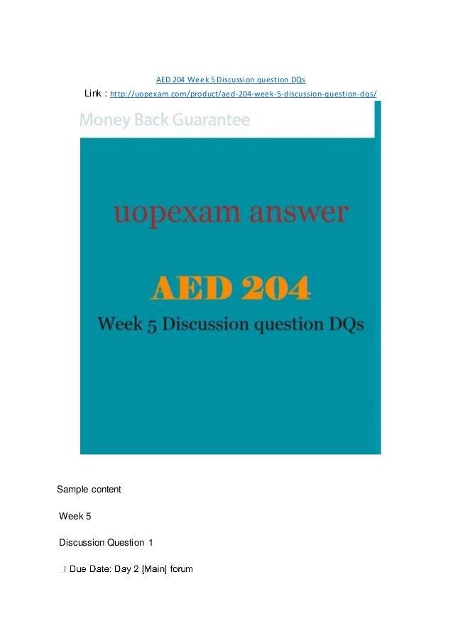 aed 204 capstone discussion question This capstone course also provides students an  in cpr professional rescuer/aed and first aid  a capstone course utilizing lecture, discussion,.