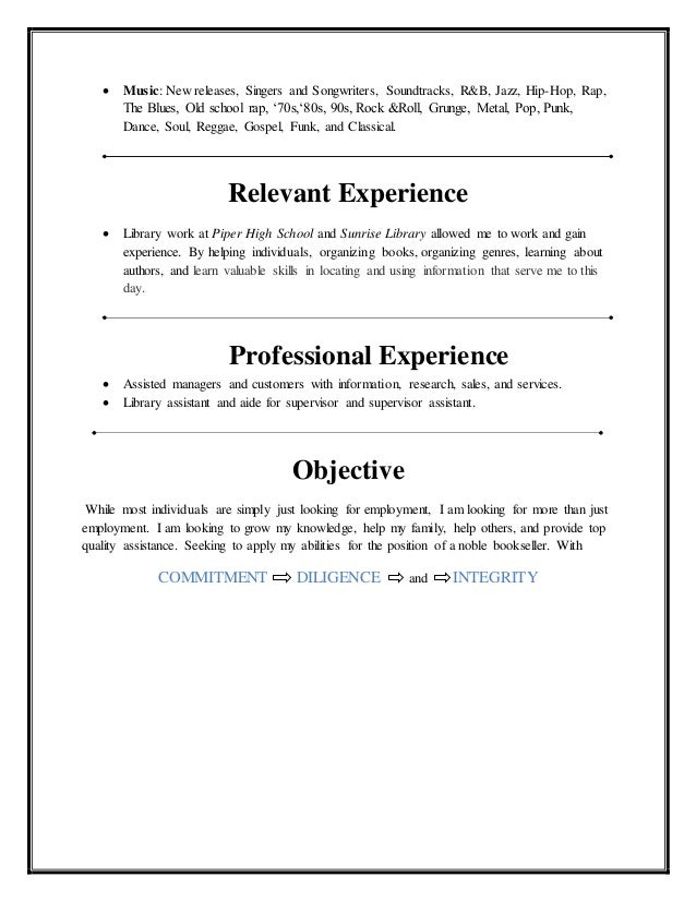 Nile Fortner Barnes & Noble Resume