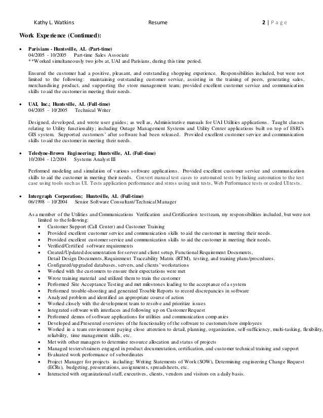 Kathy L. Watkins Resume