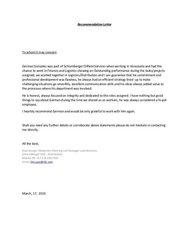 Recommendation letter 1 638gcb1459840166 recommendation letter to whom it may concern german gonzalez was part of schlumberger oilfield services spiritdancerdesigns Images