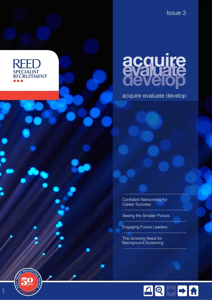 Issue 3      acquire      evaluate      develop      acquire evaluate develop      Confident Networking for      Career Su...