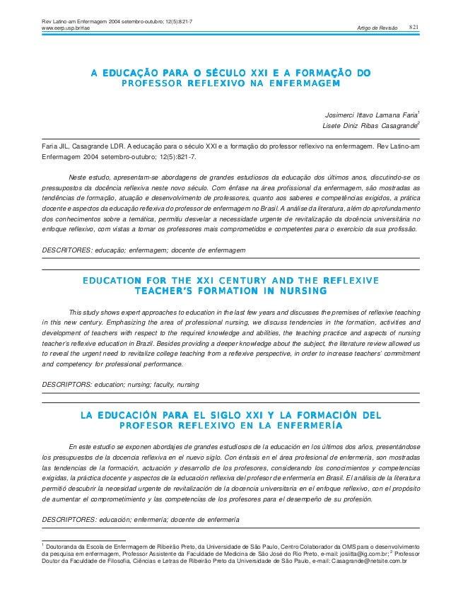 821Artigo de RevisãoA EDUCAÇÃO PA EDUCAÇÃO PA EDUCAÇÃO PA EDUCAÇÃO PA EDUCAÇÃO PARA O SÉCULARA O SÉCULARA O SÉCULARA O SÉC...
