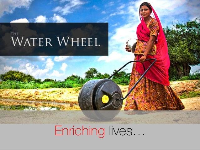 Enriching lives…