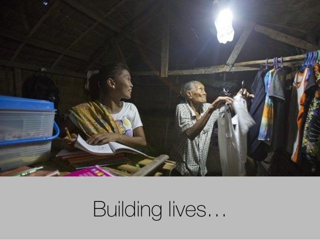 Building lives…