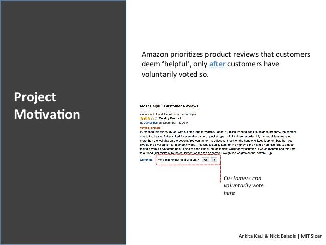 Predicting Helpfulness of User-Generated Product Reviews Through Analytical Models Slide 2