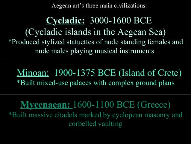 aegean art Free term papers & essays - the differences between aegean and egyptian art, art.