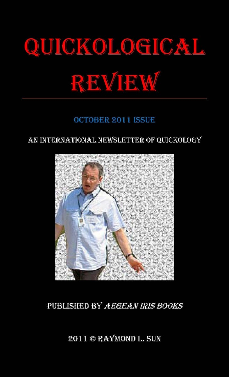 Aegean Iris Books - Quickological Review October 2011 Issue