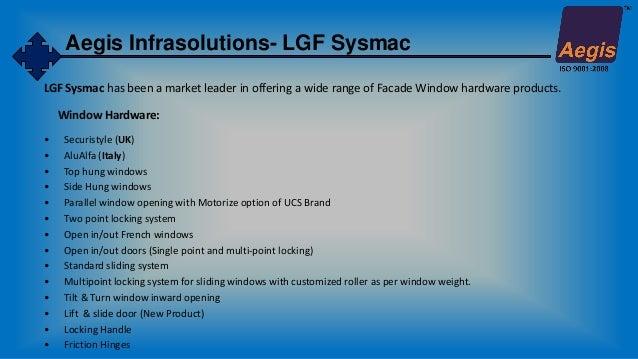 Parallel Hung Windows : Aegis infrasolutions company presentation brochures