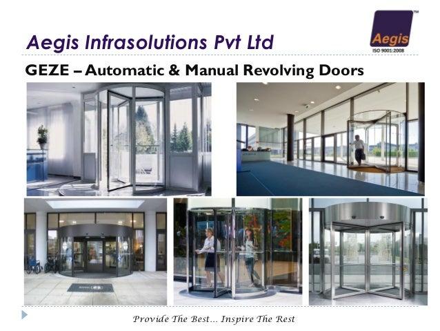 GEZE u2013 Automatic u0026 Manual Revolving Doors ...  sc 1 st  SlideShare & Modular Glass Partition Seamless Rolling Shutter Industrial Doors u0026u2026